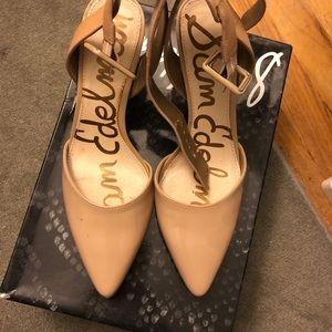 SAM EDELMAN small nude heels. Worn twice.